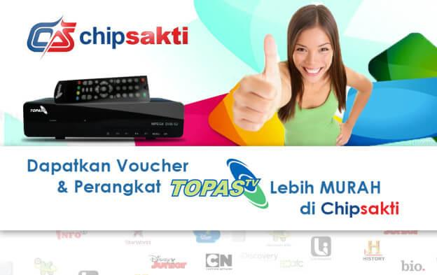 Jual Voucher Topas TV Online Chip Sakti