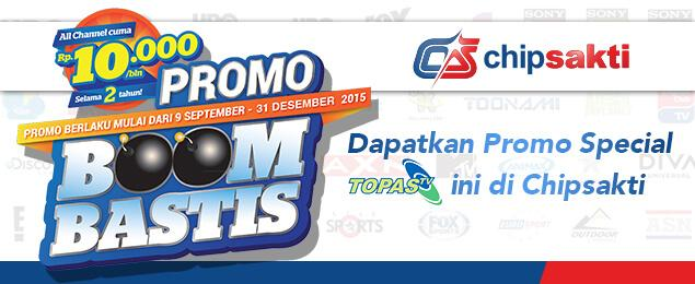 Promo Topas TV All Channel Rp10.000/Bulan
